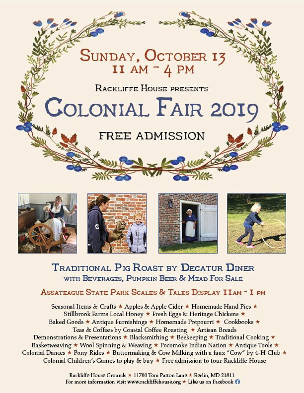 Colonial Fair flyer