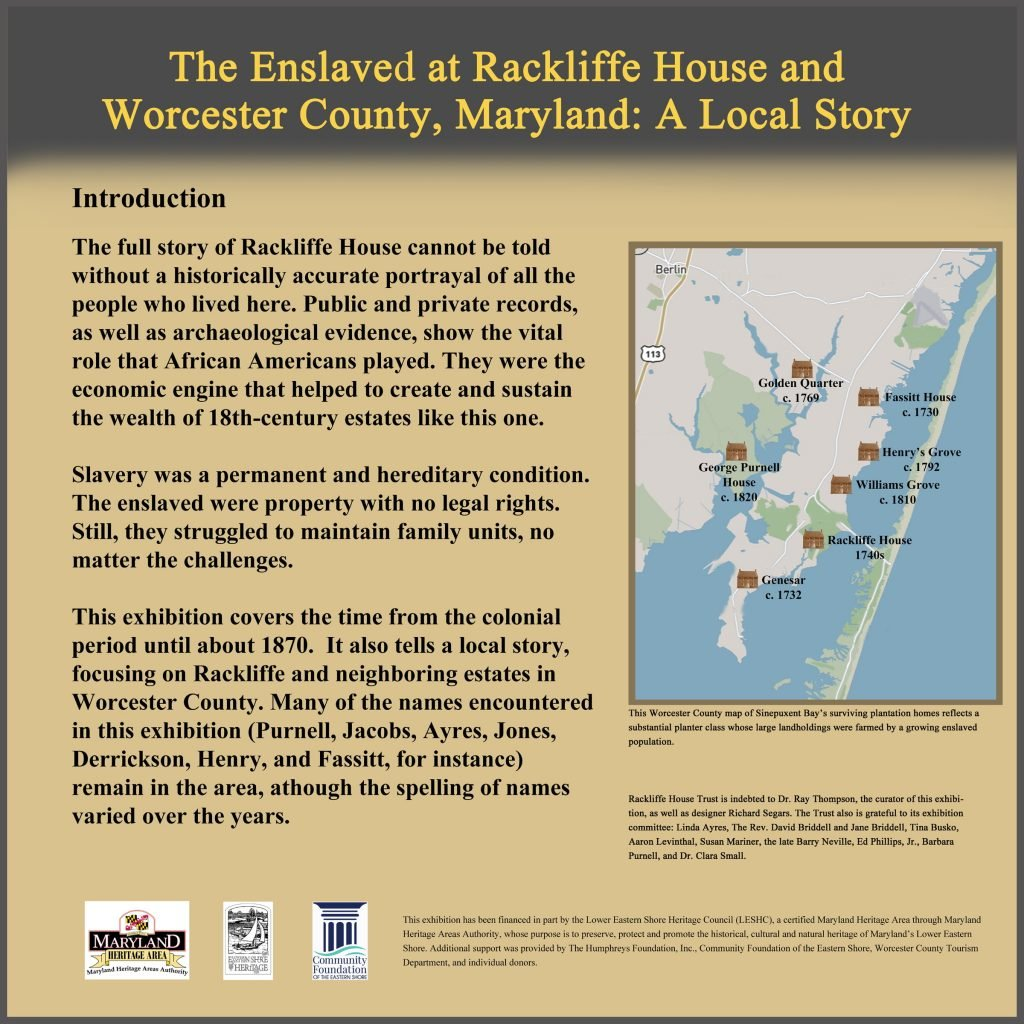 Enslaved at Rackliffe House panel